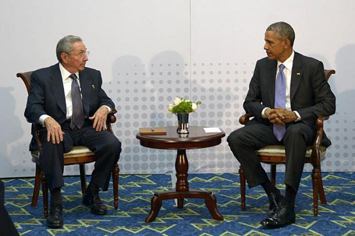 Begegnung Obama und Castro