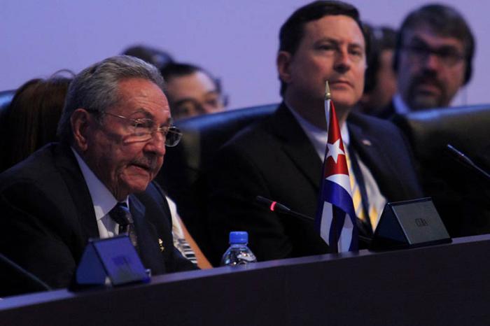 Raúl Castro auf dem Amerika-Gipfel in Panama
