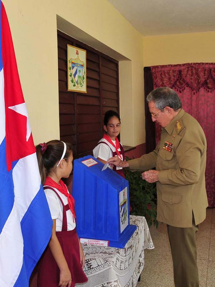 Raúl übte sein Wahlrecht aus