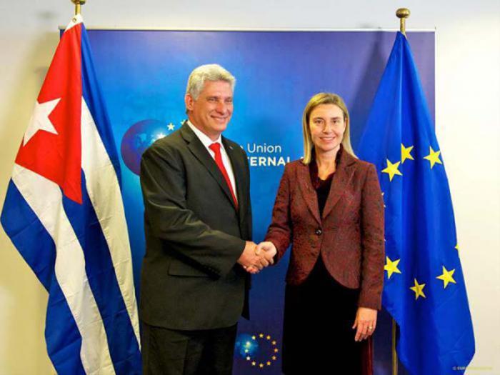 Treffen zwischen Díaz-Canel und Federica Mogherini