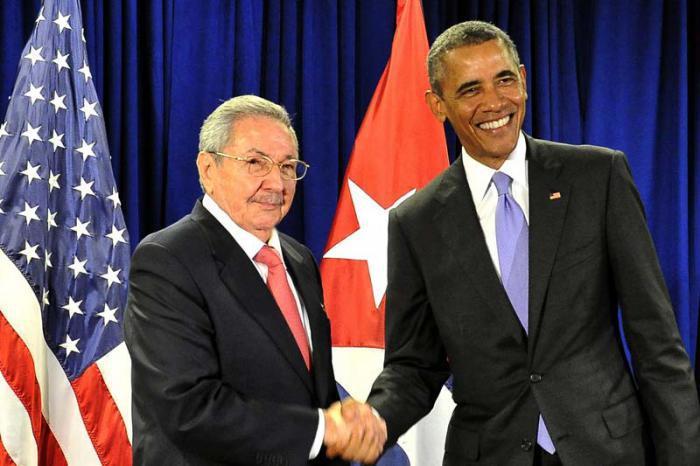 Treffen Raul Castros mit Barack Obama