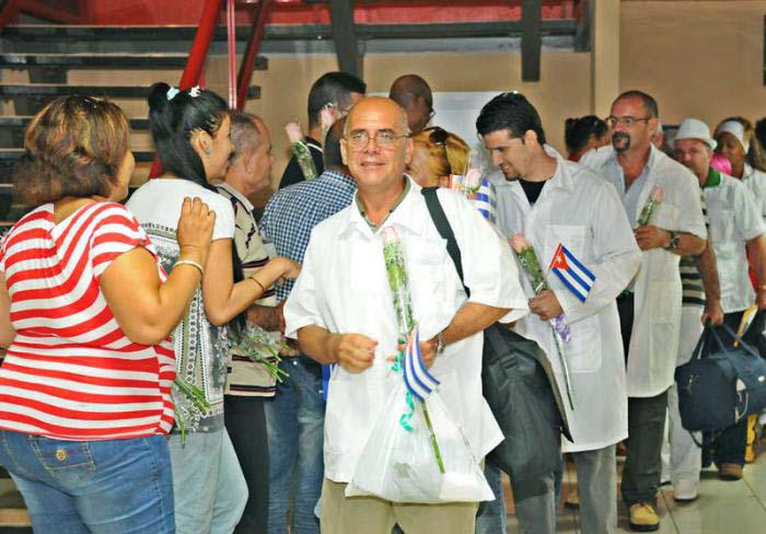 kubanische Mitarbeiter aus dem Gesundheitsbereich