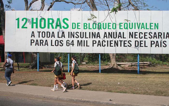 Plakat - Blockade gegen Kuba