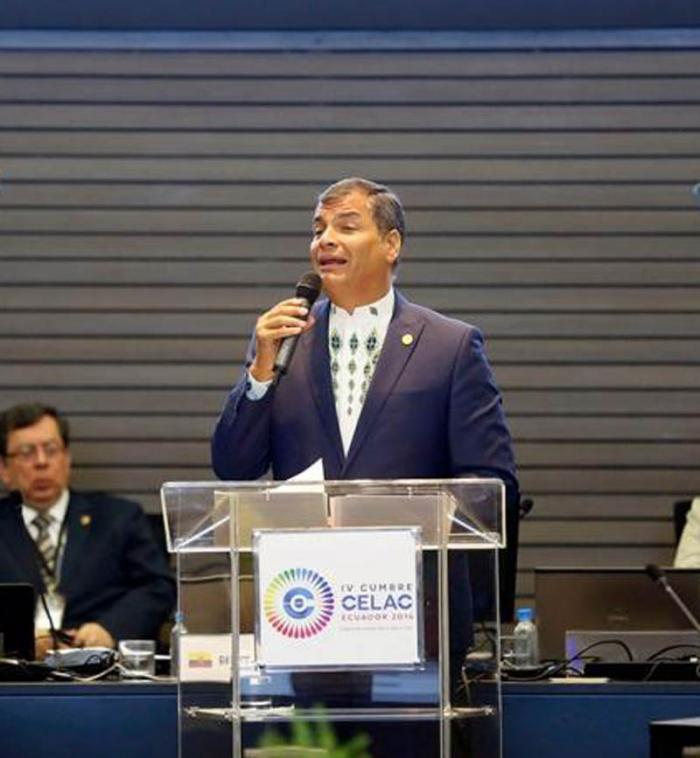 Präsident Ecuadors Rafael Correa
