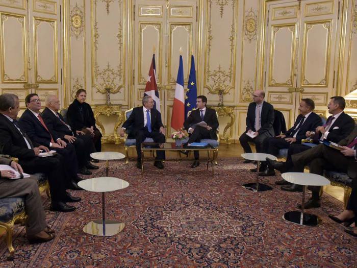 Raul Castros Staatsbesuchs in Frankreich