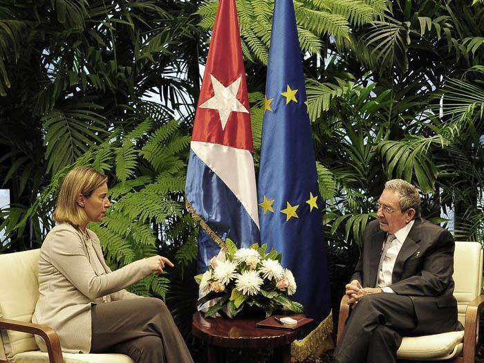 Raúl Castro empfing Federica Mogherini