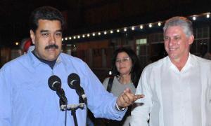 Präsident Venezuelas, Nicolás Maduro in Kuba