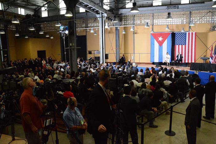 Barack Obama vor Publikum