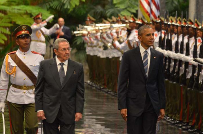 Obama - Empfang in Kuba