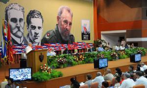 Raúl Castro auf dem 7. Parteitag der PCC