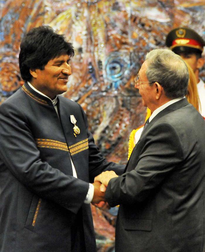 Raúl Castro und Evo Morales