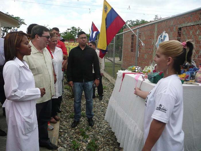 Bruno Rodríguez besuchte eine Basis der sozialistischen Missionen