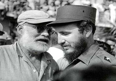 Begegnung Hemingways mit Fidel