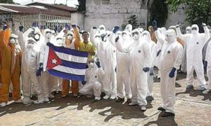 kubanische Ärzte, die Ebola bekämpften