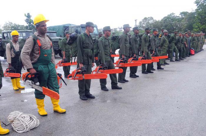 Armee unterstützt den Wiederaufbau in Baracoa