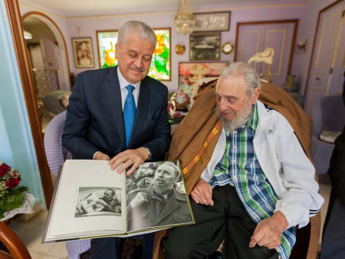 Treffen Fidels mit Premierminister Algeriens