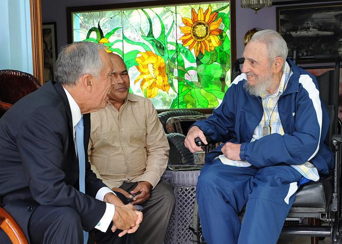Fidel und der portugiesische Staatspräsident