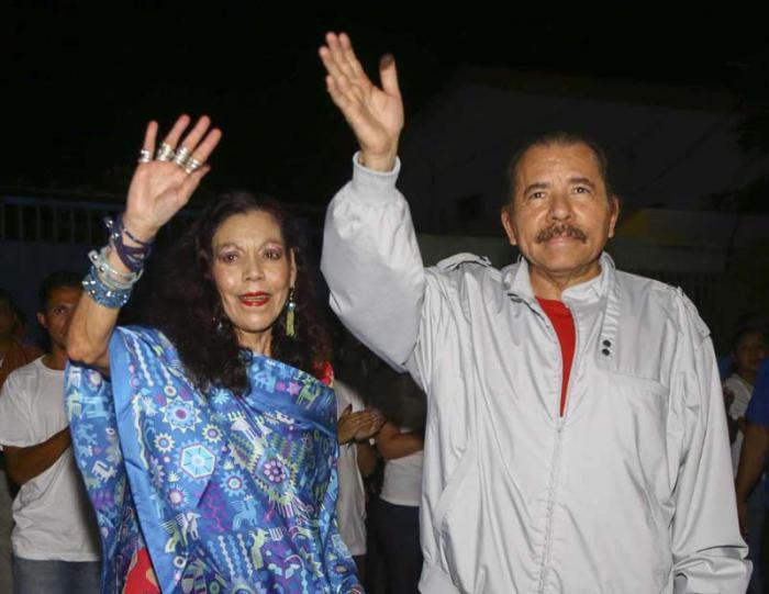 Daniel Ortega und Rosario Murillo - Wahlsieg in Nicaragua