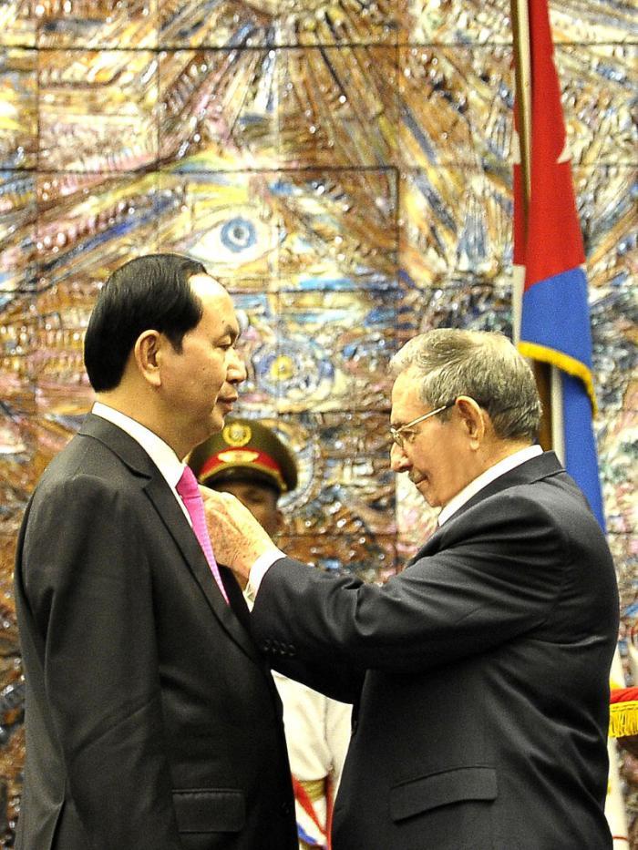 Raul empfing den Präsidenten der Sozialistischen Republik Vietnam
