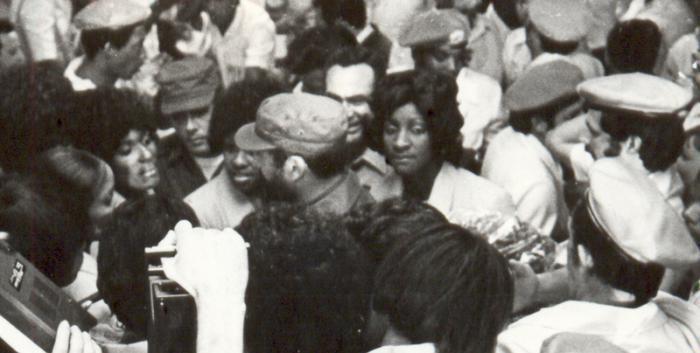 Fidel und kubanische Sportlerdelegation