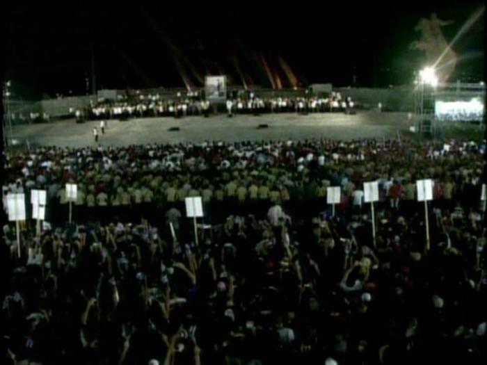 Massenkundgebung zu Ehren Fidels in Santiago