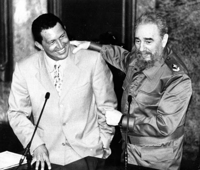 Hugo Chávez zum ersten Mal in Kuba