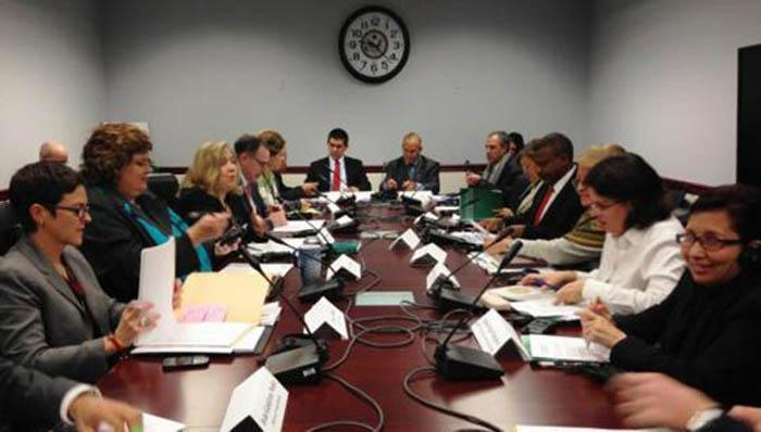 Delegationen Kubas und der USA