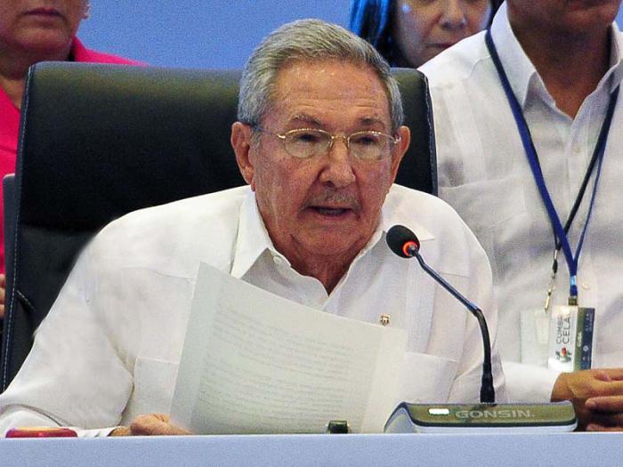 Raúl Castro beim CELAC-Gipfel in Punta Cana