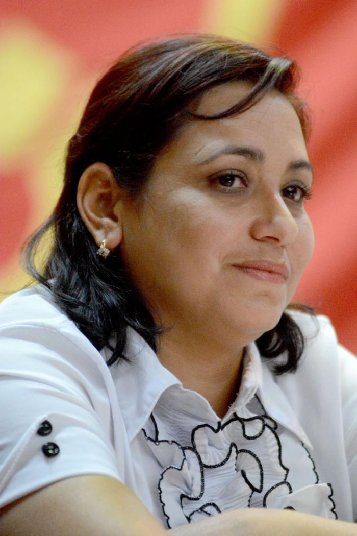 Sekretärin der UJC Susely Morfa González
