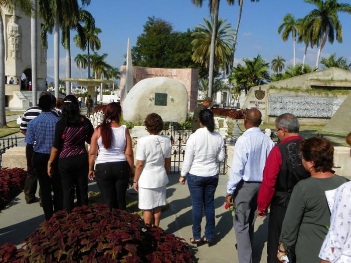 Fidel Castro Ruz auf dem Santa Ifigenia Friedhof