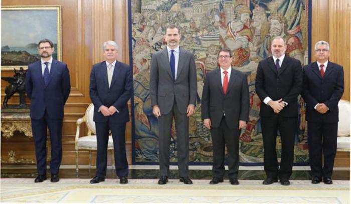 König von Spanien empfängt kubanischen Außenminister