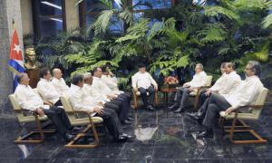 Raúl empfing Delegation der FARC-EP