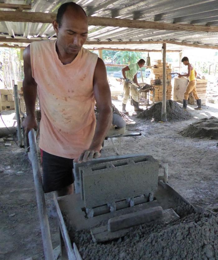 Miniindustrie zur Herstellung von Materialien