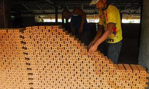 Herstellung von Baumaterial