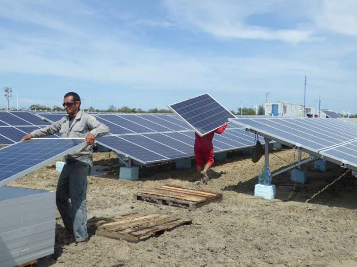 Elektrizitätsarbeiter von Las Tunas