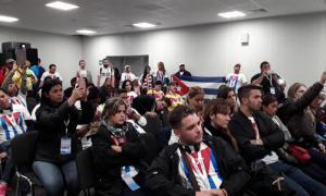 Kolloquium über Fidel auf dem 19. Weltfestival der Jugend und Studenten