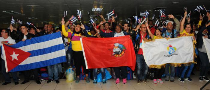 Kubas Delegation der Weltfestspiele