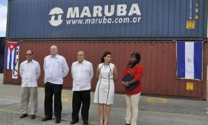 Solidarische Hilfe der Regierung Nicaraguas trifft in Kuba ein