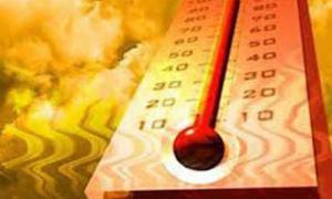 Temperatur über dem Durchschnitt