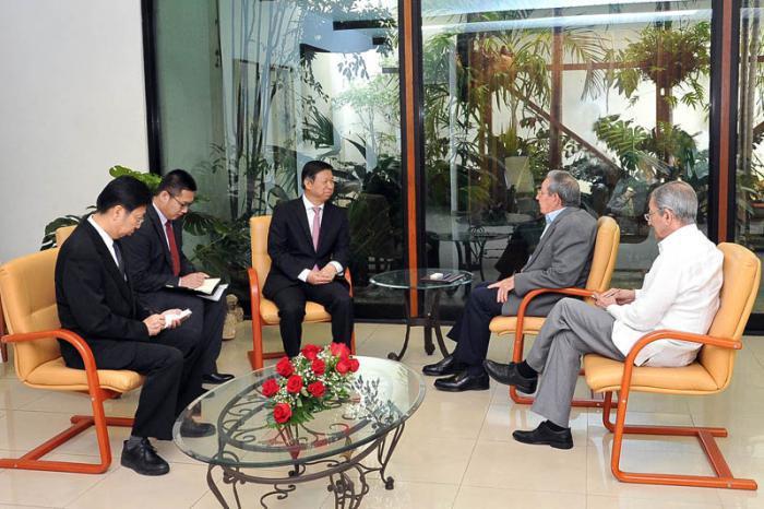 Raúl empfing chinesischen Parteiführer