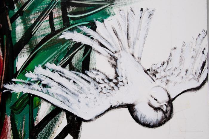 Wandgemälde für den Frieden der Brigade Martha Machado