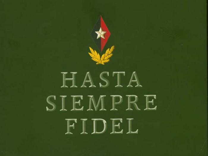 Hasta siempre Fidel
