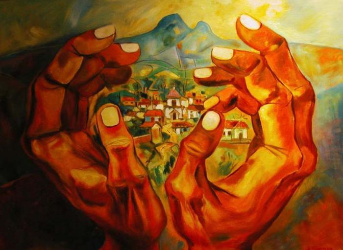 """Werk """"Geburtsort"""" von Eduardo Kingman"""