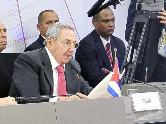 Raúl Castro auf dem 15. Ordentlichen Gipfel der ALBA-TCP