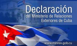 Erklärung des kubanischen Außenministeriums