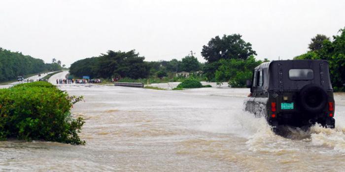 Starke Regenfälle auf Kuba behindern den Verkehr