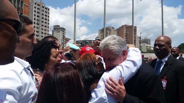 Besuch des kubanischen Präsidenten in Venezuela