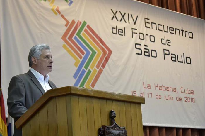 Díaz-Canel Bermúdez beim Sao Paulo Forum