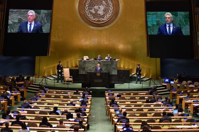 Díaz-Canel vor der UNO-Vollversammlung