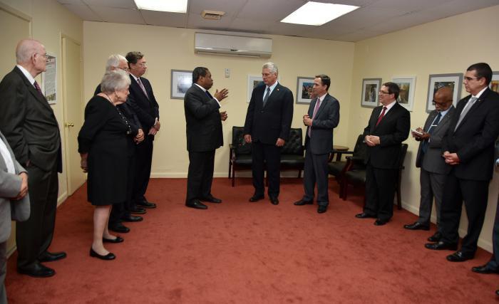 Treffen des kubanischem Präsidenten mit religiösen Führern